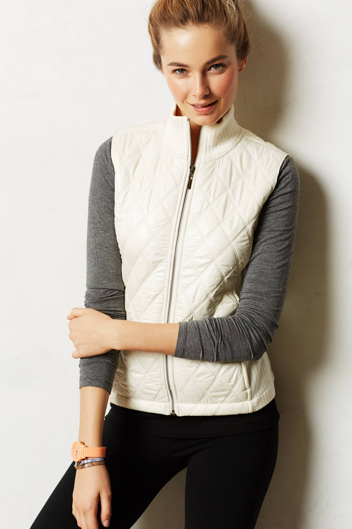 Lyst Anthropologie Quilted Puffer Vest In White