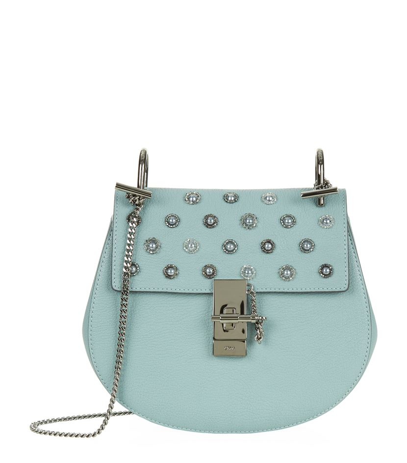 knockoff chloe bags - Chlo�� Small Drew Embellished Bag in Blue | Lyst