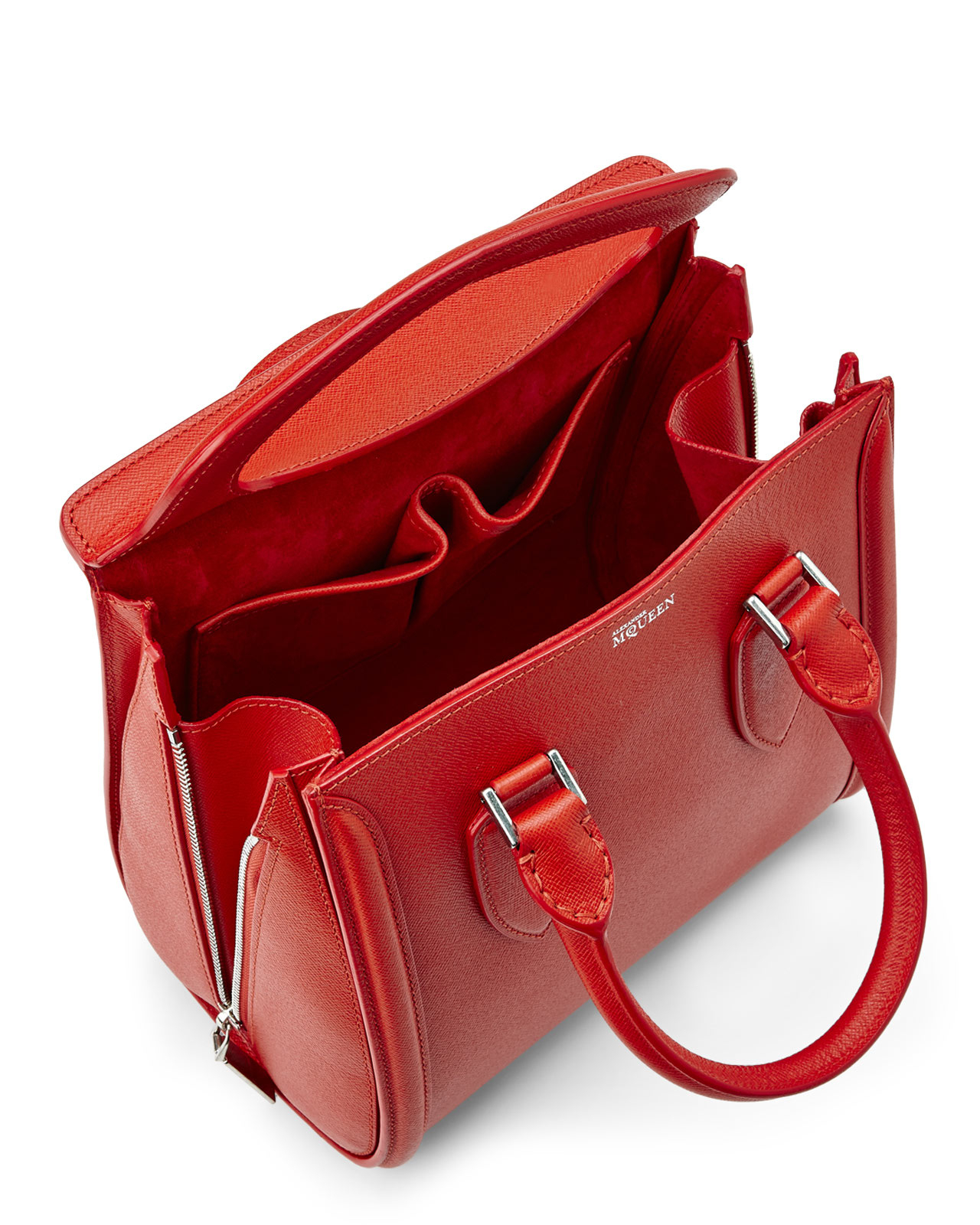 e45b57e56a45f Alexander McQueen Red Heroine Satchel in Red - Lyst