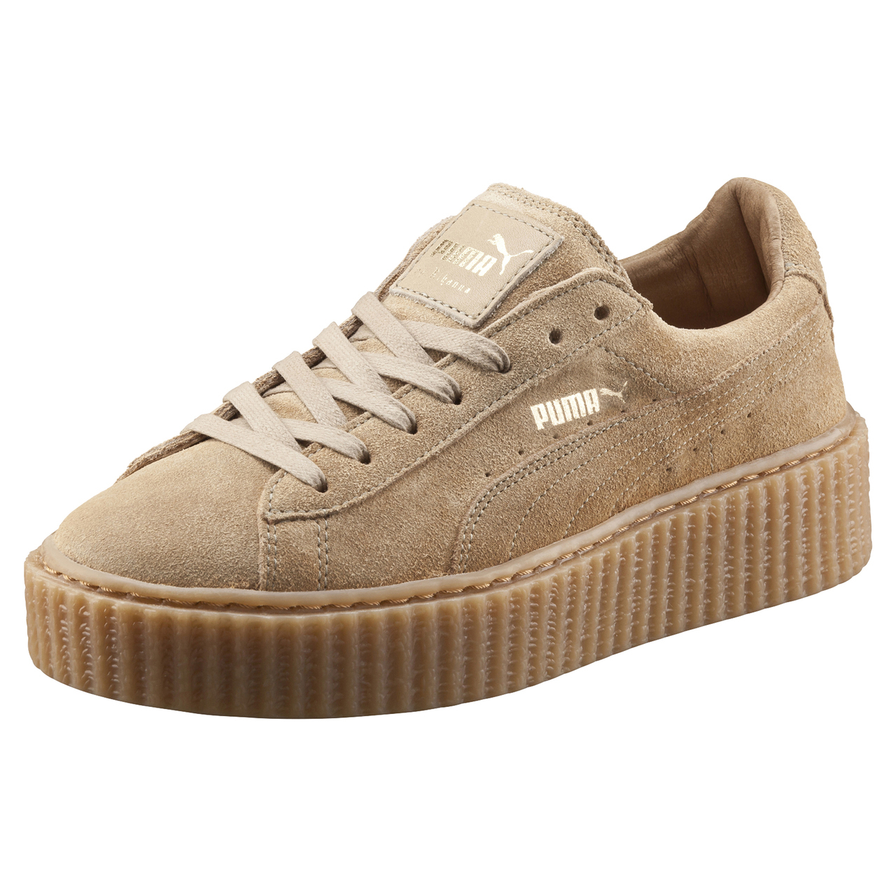 lyst puma x rihanna suede creepers oatmeal in natural. Black Bedroom Furniture Sets. Home Design Ideas