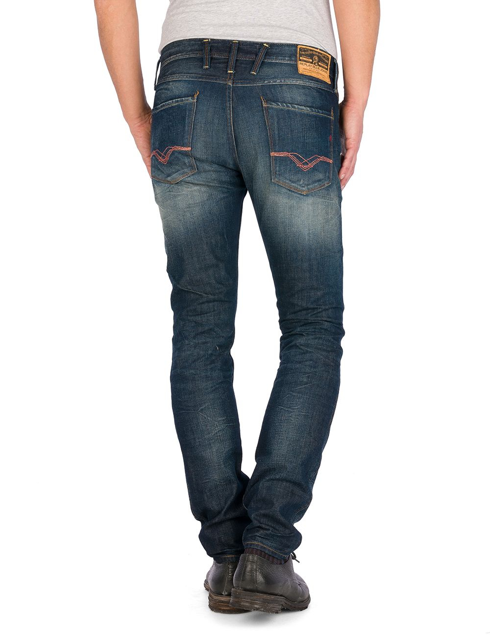 Replay Anbass Jeans in Denim Dark Wash (Blue) for Men