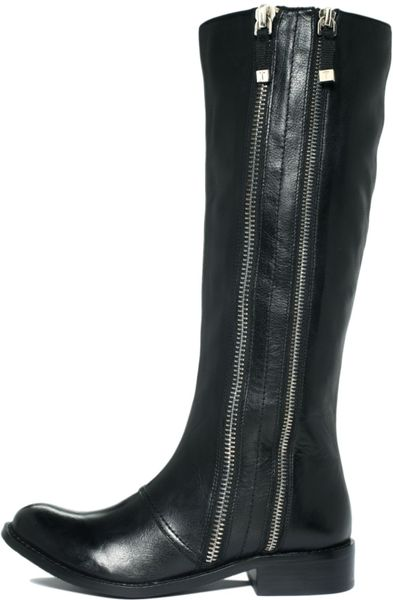 tahari andy boots in black lyst