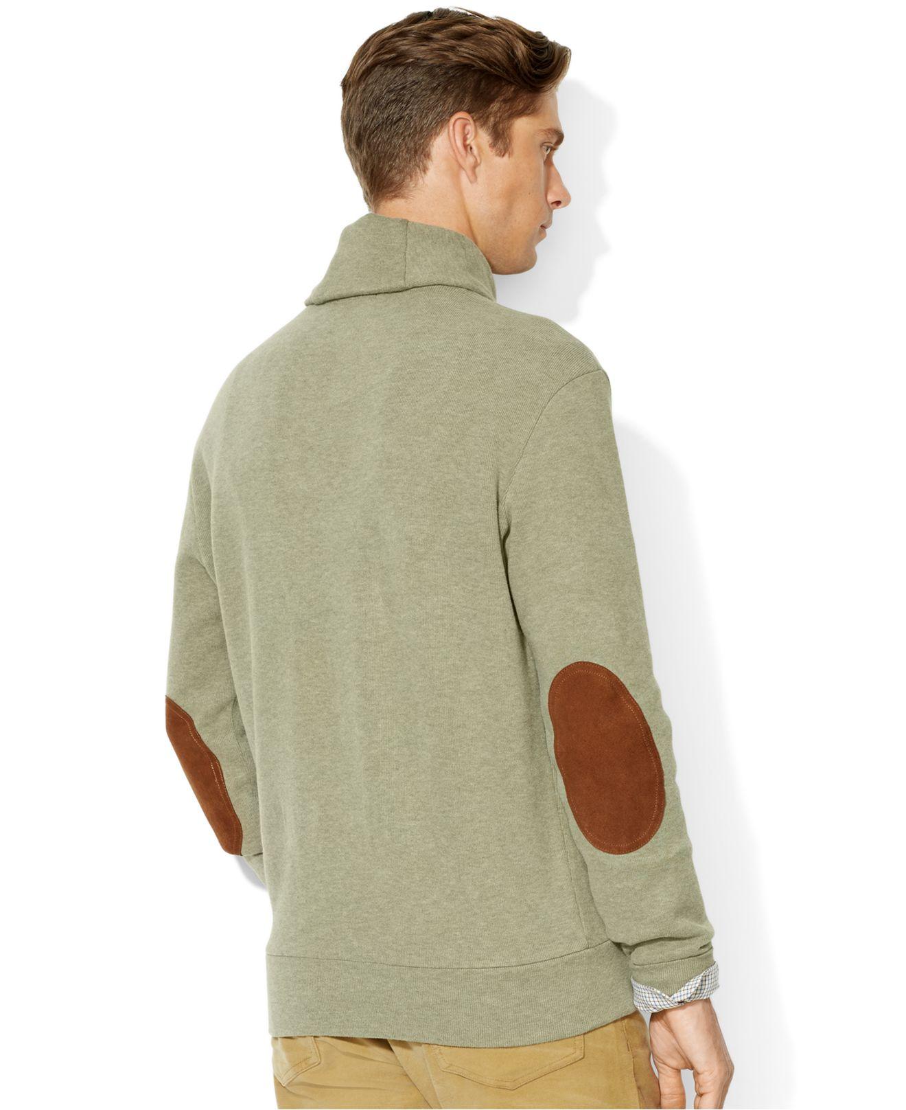 New Polo Ralph Lauren Men/'s French Rib Shawl Neck Pullover Sweatshirt Sweater