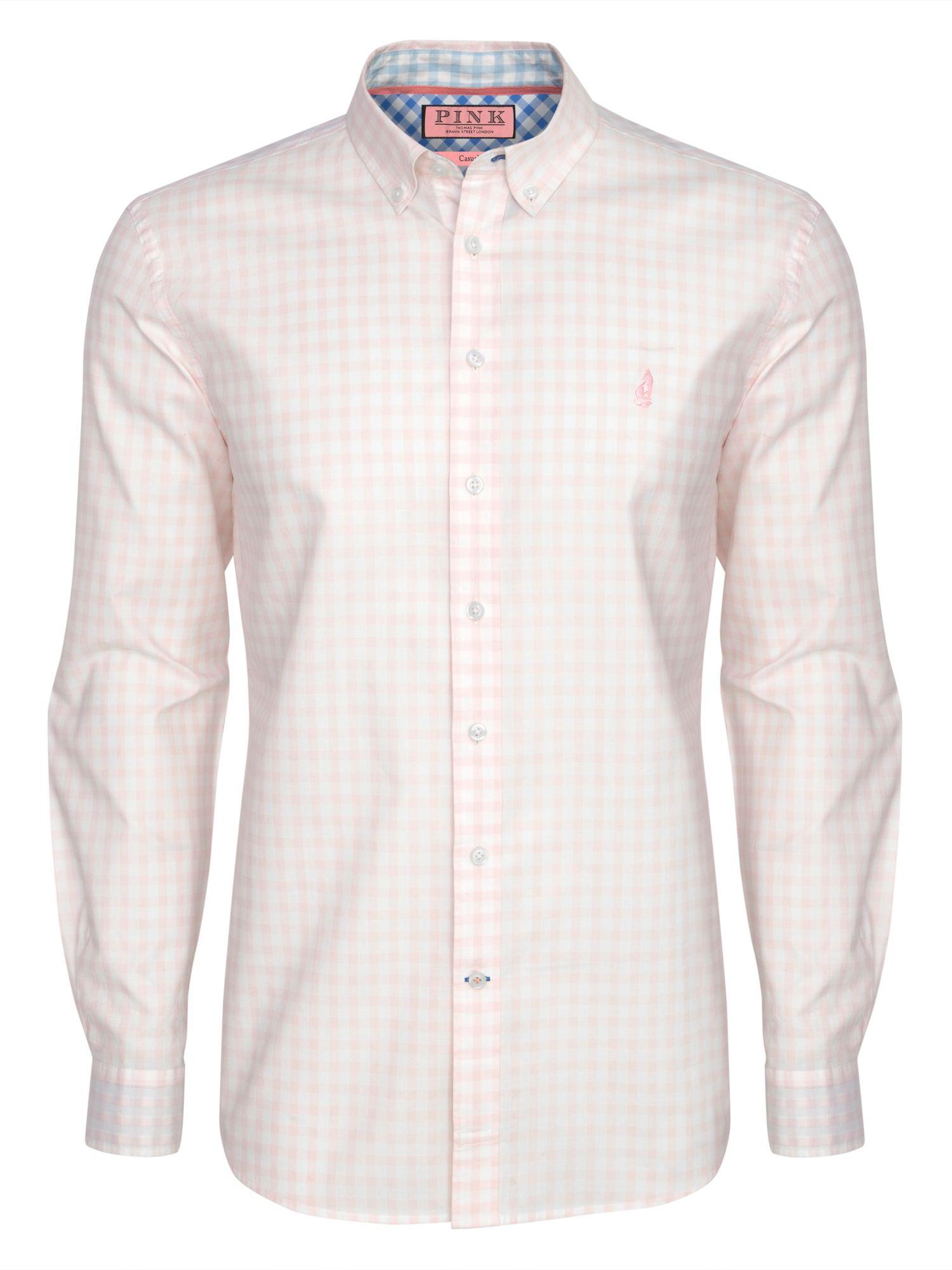 Thomas Pink Malkin Check Regular Fit Shirt In Pink For Men