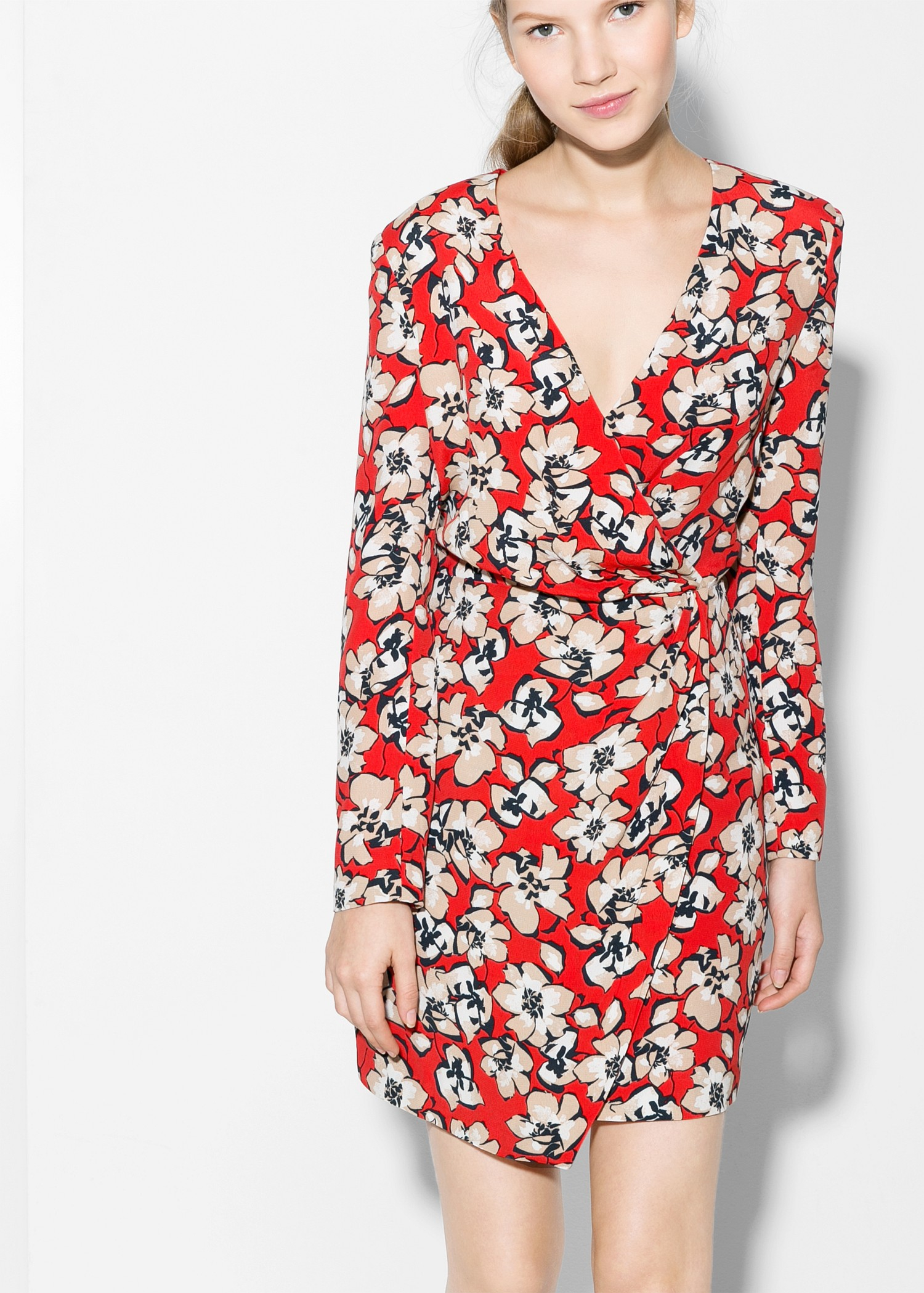 134982fff4a Mango Floral Wrap Midi Dress | Saddha