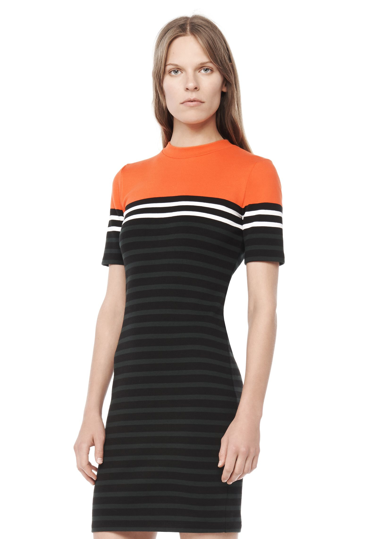 t by alexander wang striped cotton t shirt dress in red lyst. Black Bedroom Furniture Sets. Home Design Ideas