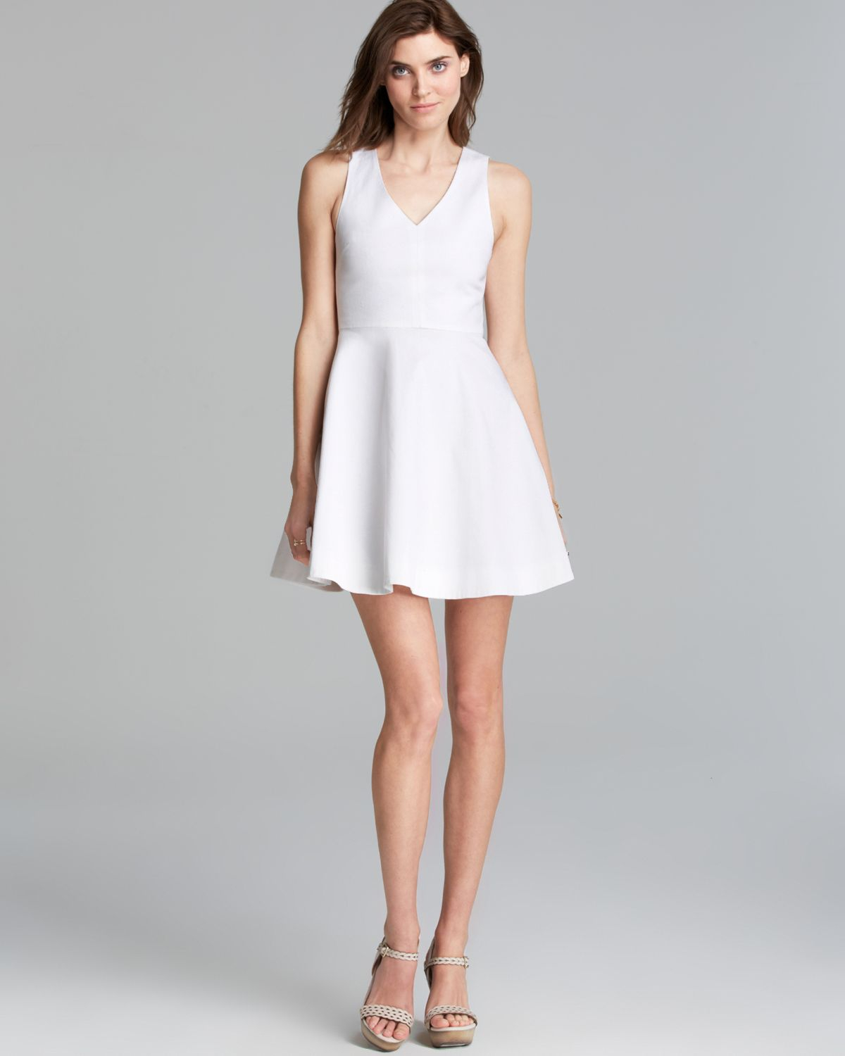 Lyst Joie Dress Norton Fit And Flare In White