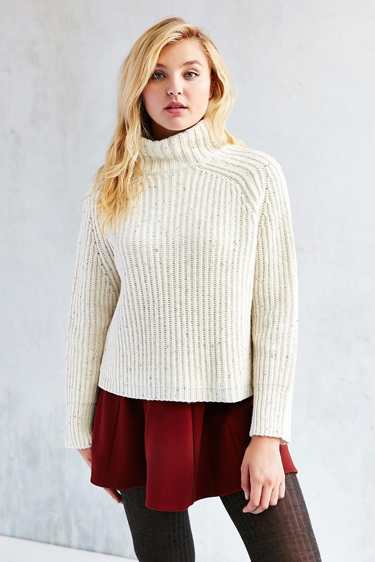 Silence   noise Abigail Turtleneck Sweater in White | Lyst