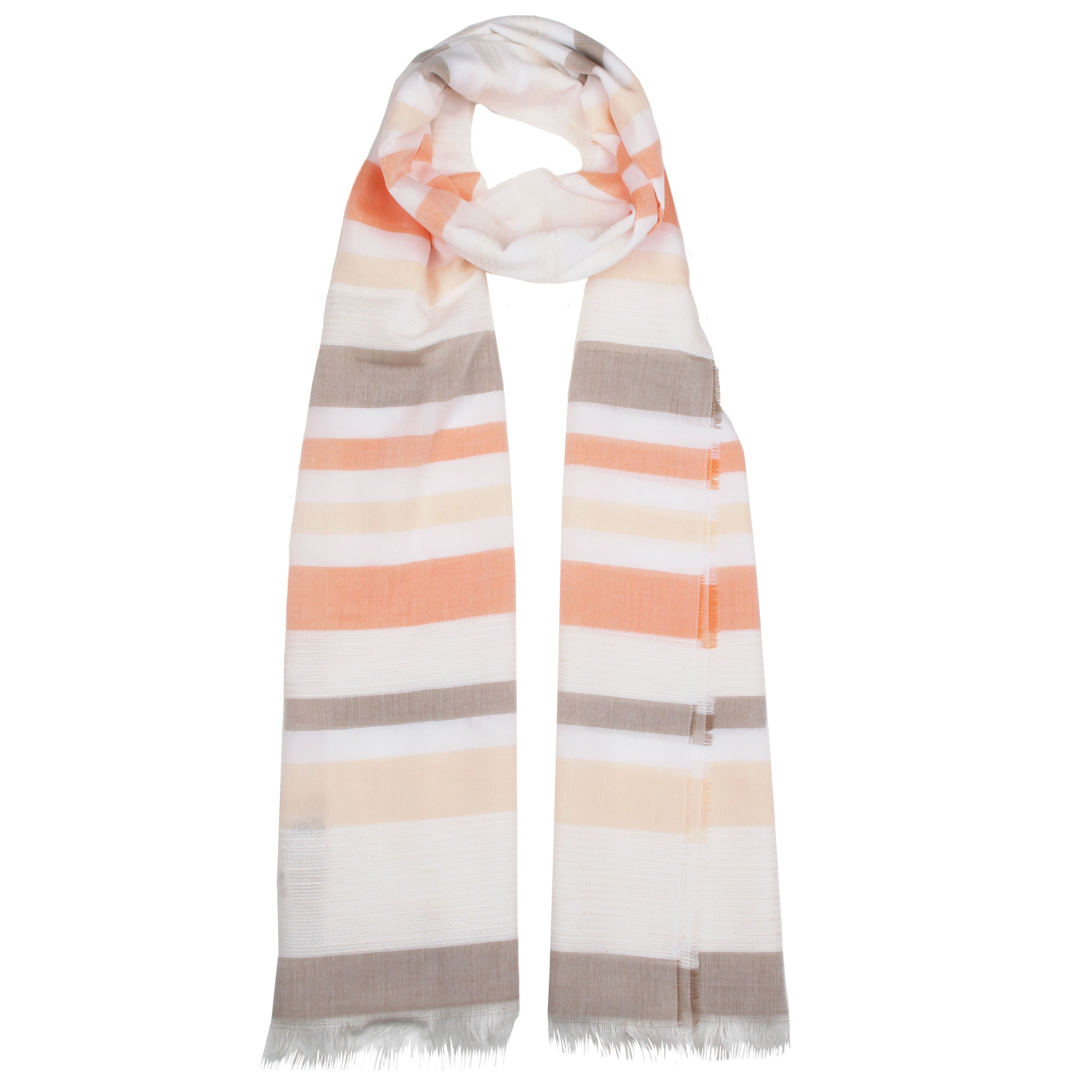 dents woven tonal stripe scarf in pink lyst
