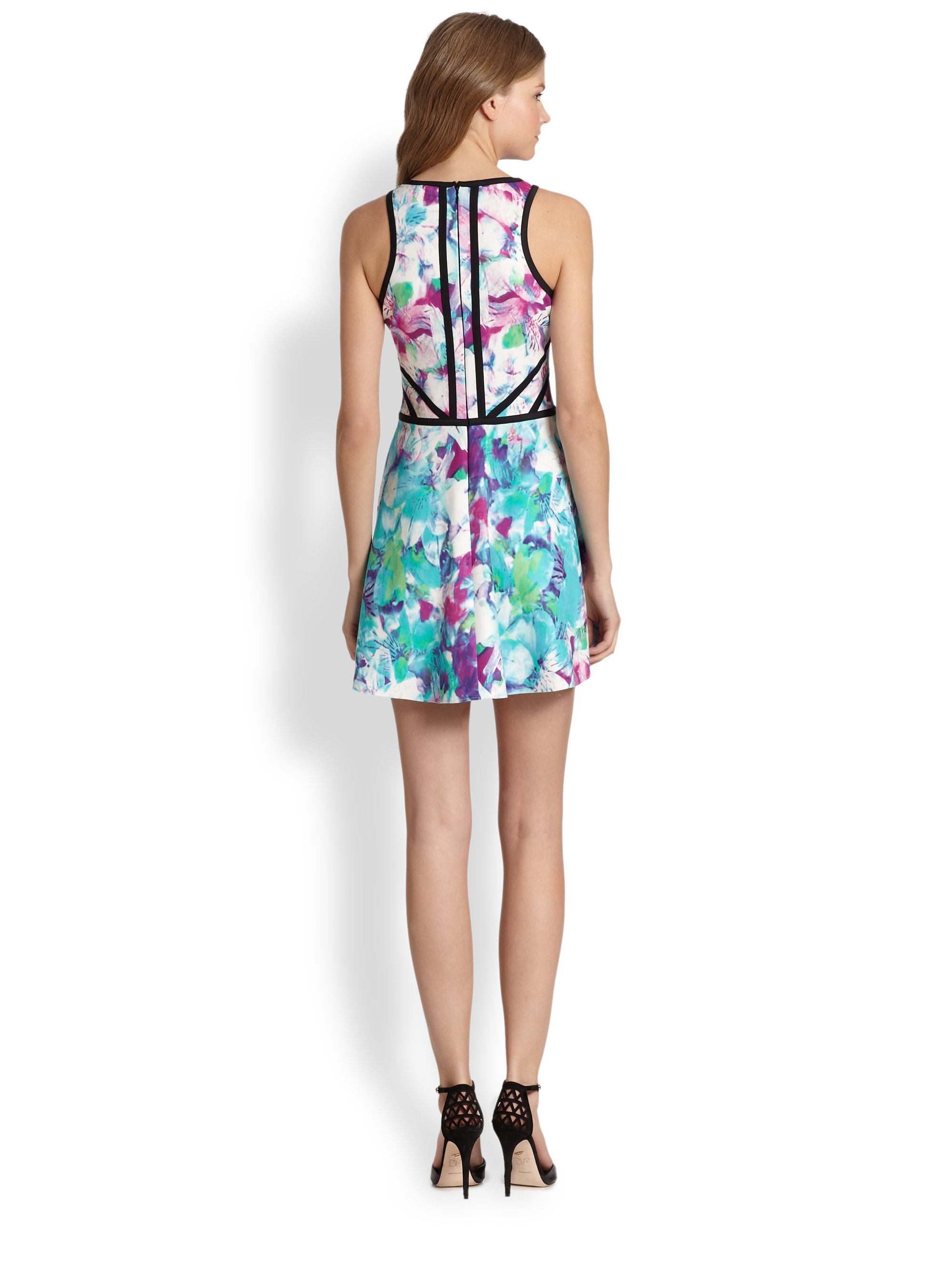 Parker Shelby Floralprint Fitandflare Dress Lyst