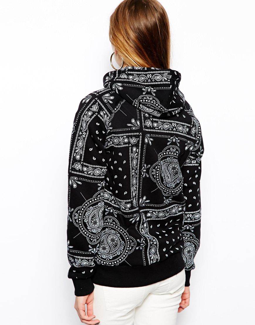 Lyst Criminal Damage Hoodie With All Over Bandana Print