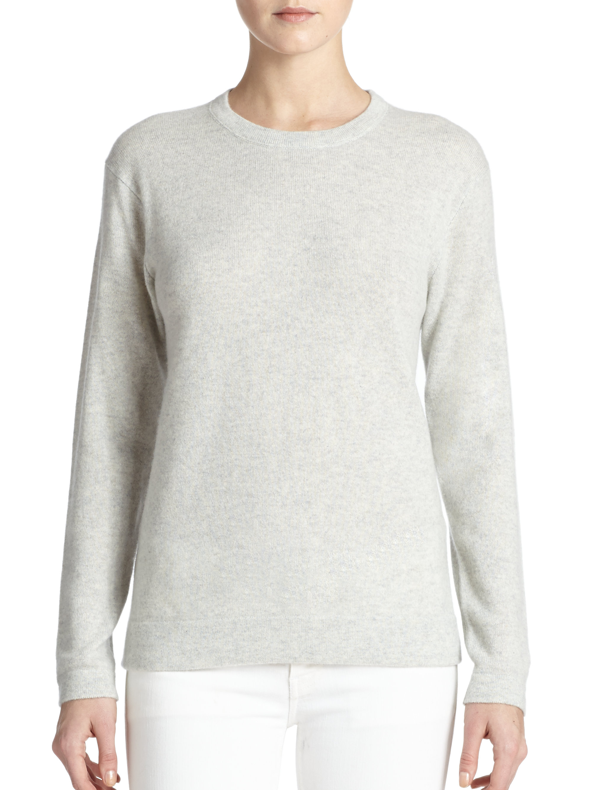 9dedb1b55 Polo Ralph Lauren Cashmere Crewneck Sweater in Gray - Lyst
