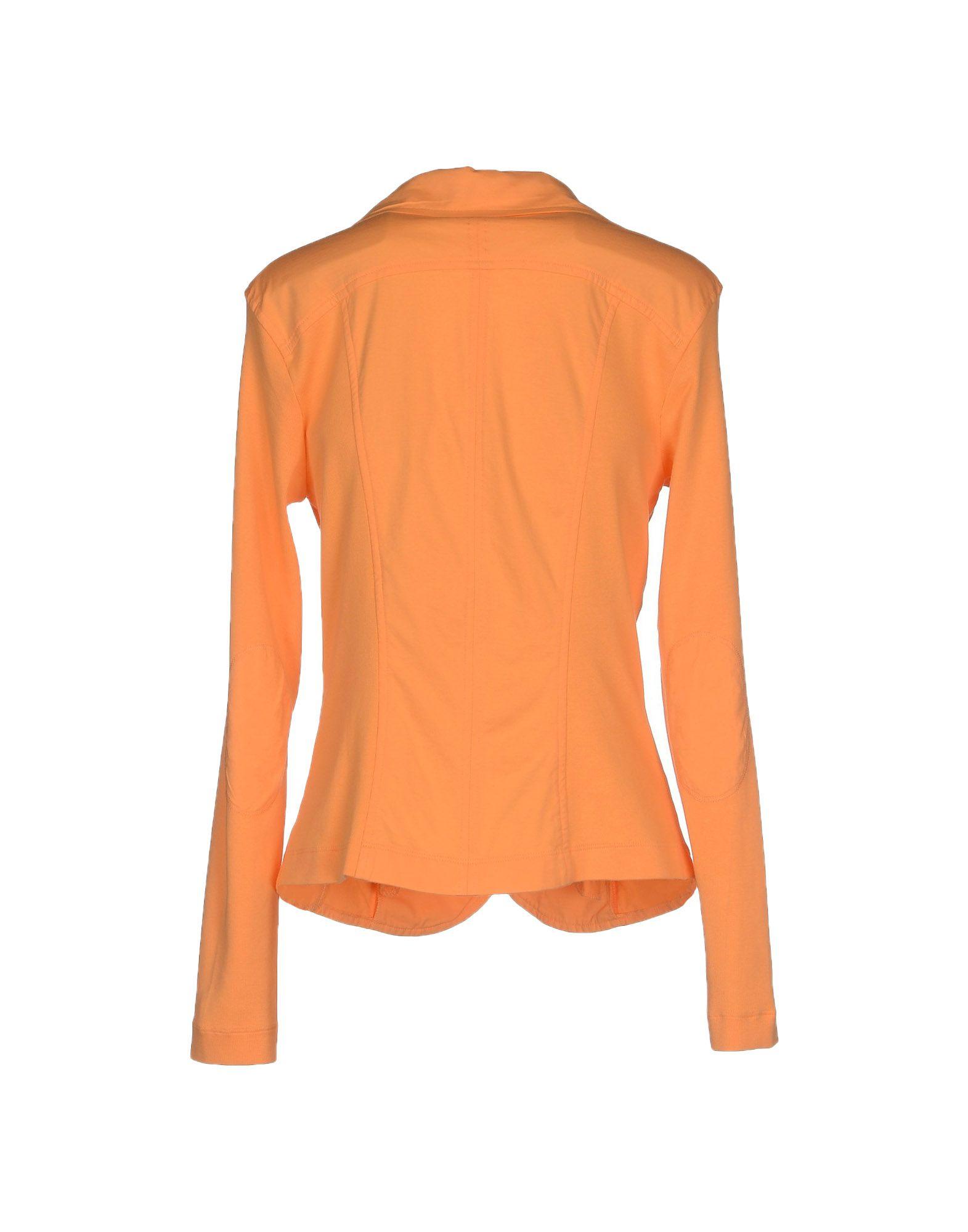 marc cain blazer in orange lyst. Black Bedroom Furniture Sets. Home Design Ideas