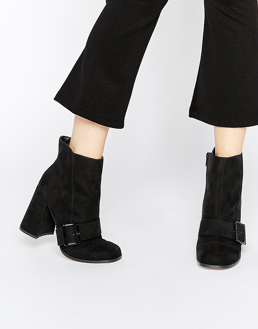 asos eggshell ankle boots in black lyst