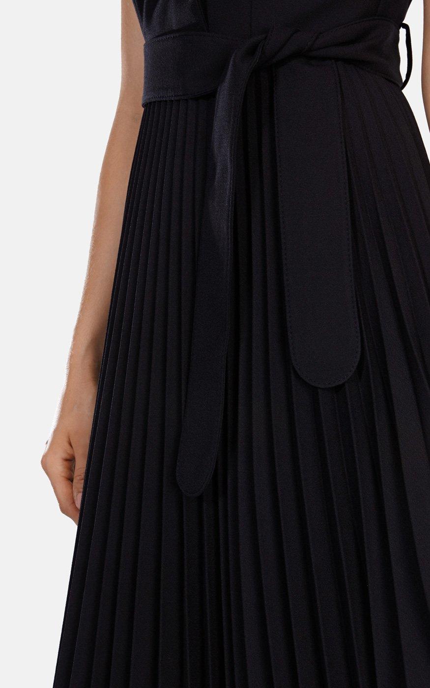 Karen millen black trench coat dress