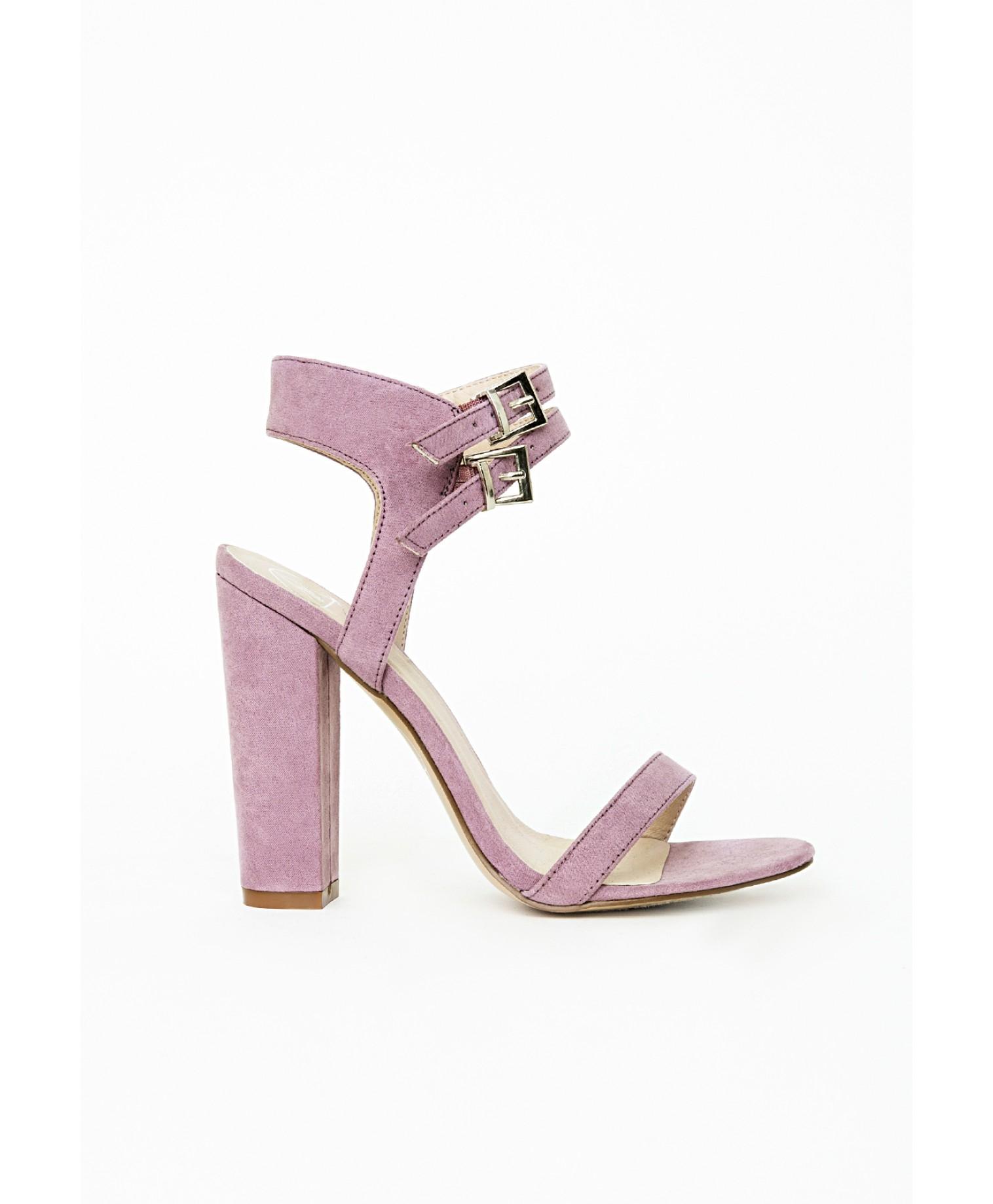 Purple Block Heels - Is Heel