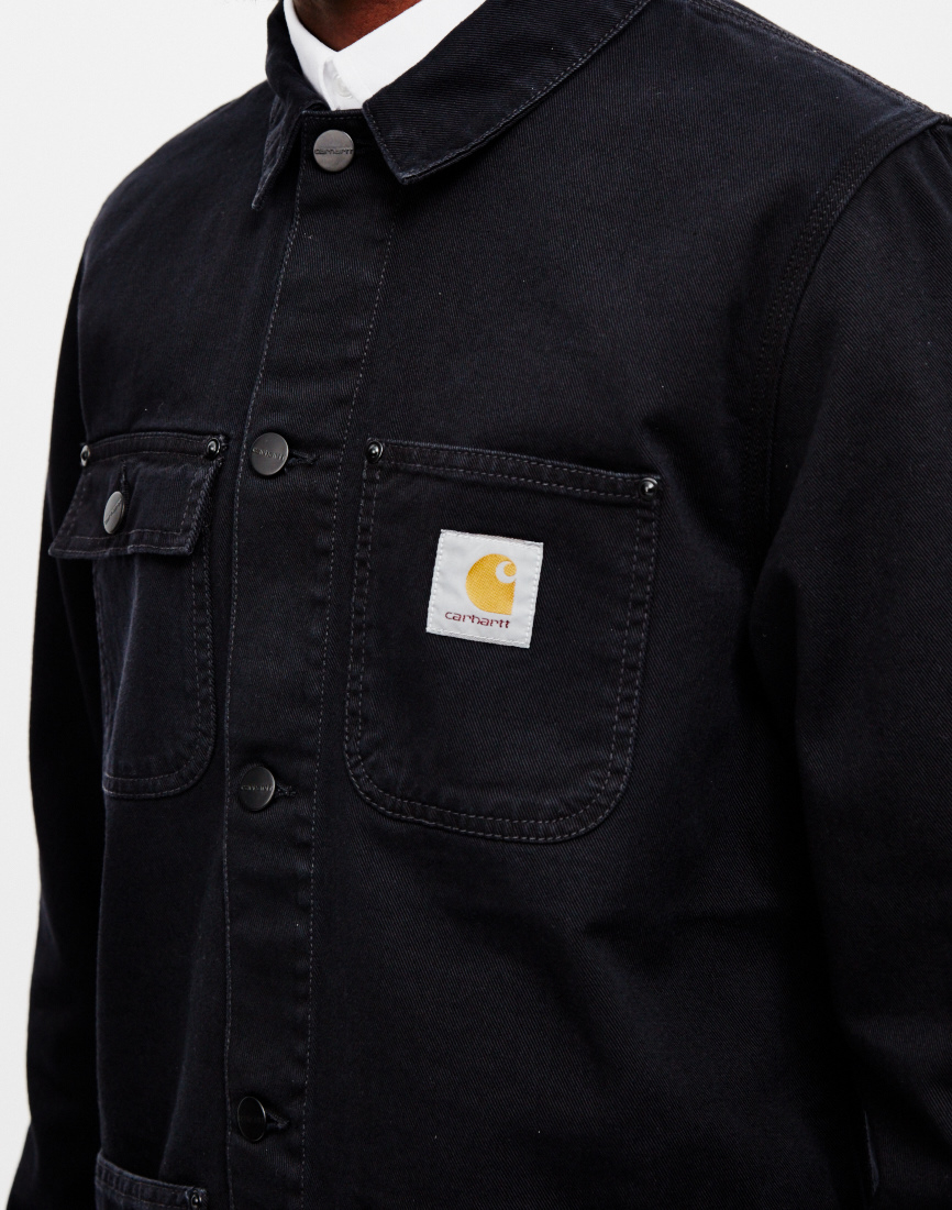 43ebd92a42 Carhartt WIP Michigan Chore Denim Jacket in Black for Men - Lyst