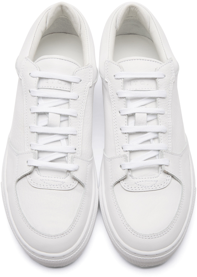 Lyst - ETQ Amsterdam White Leather Low 3 Sneakers in White for Men 8e7942824