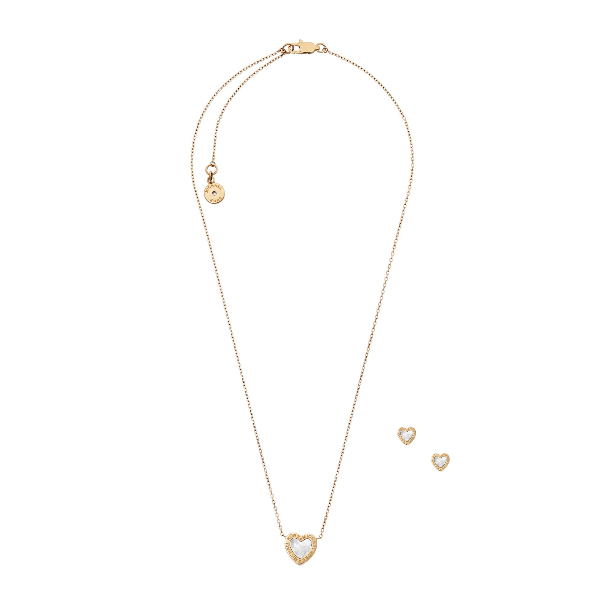 Michael kors Gold-tone Heart Necklace And Earrings Set in ...