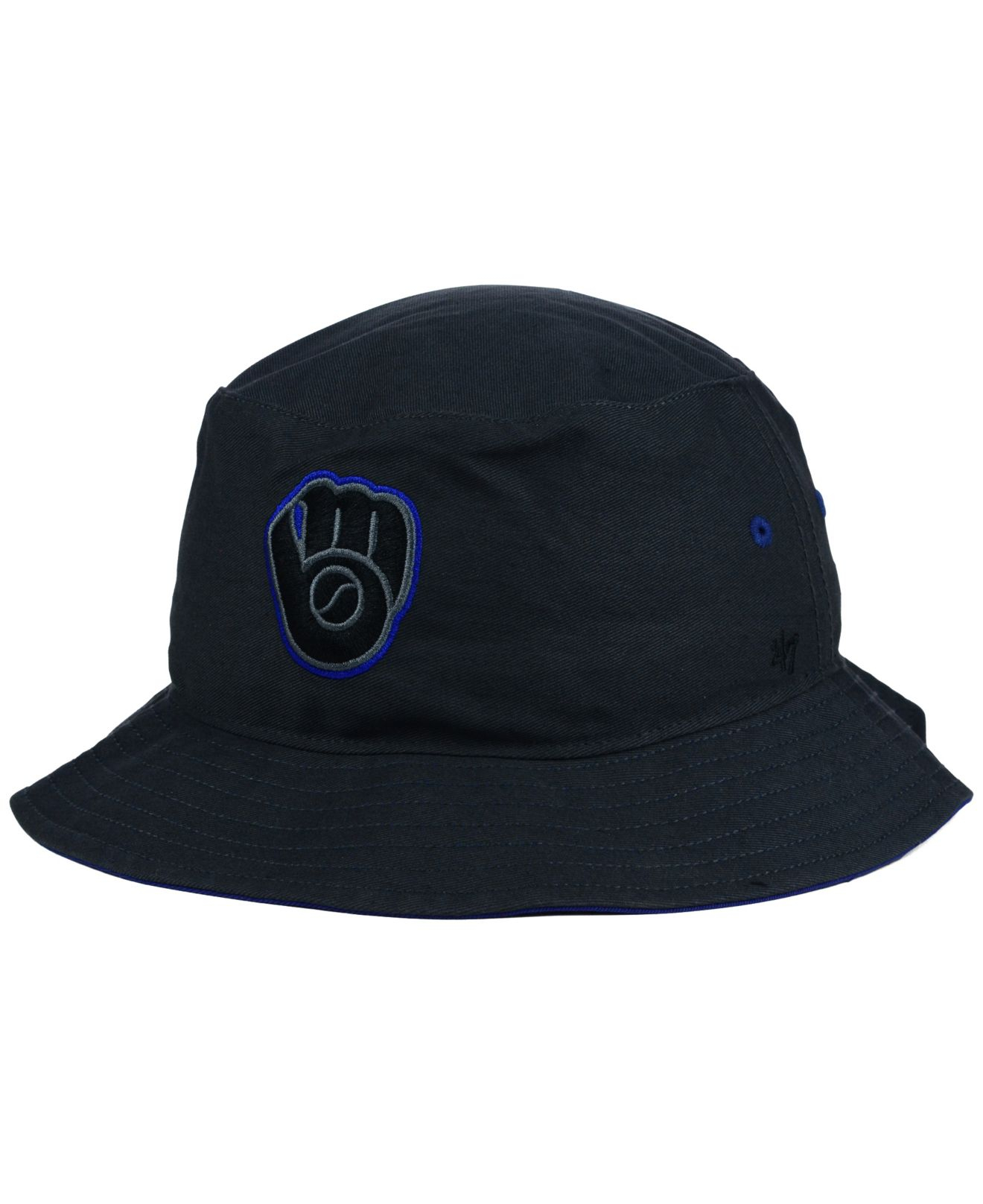 Lyst - 47 Brand Milwaukee Brewers Turbo Bucket Hat in Gray 0acdcaf3689