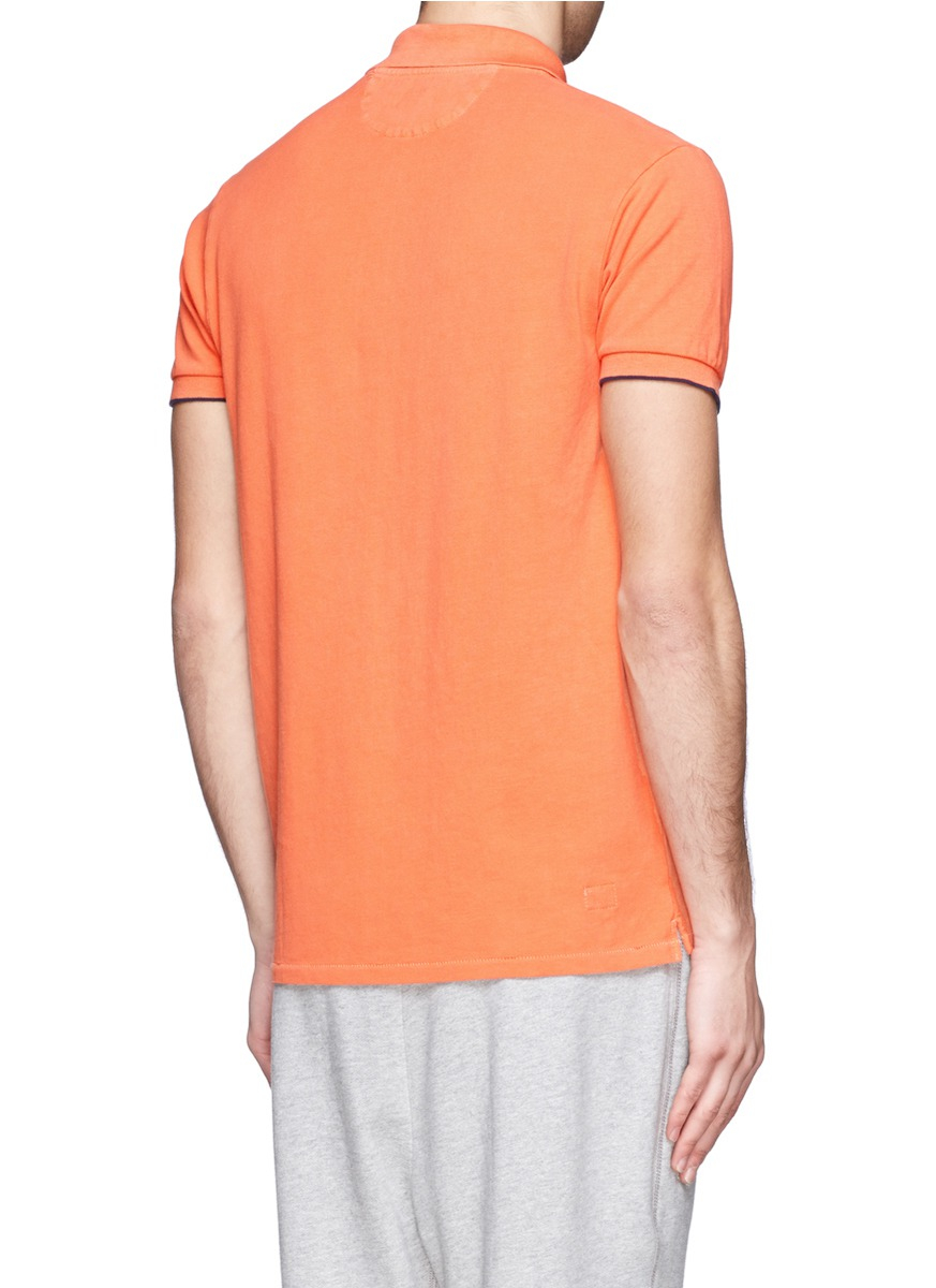 lyst scotch soda classic polo shirt in orange for men. Black Bedroom Furniture Sets. Home Design Ideas