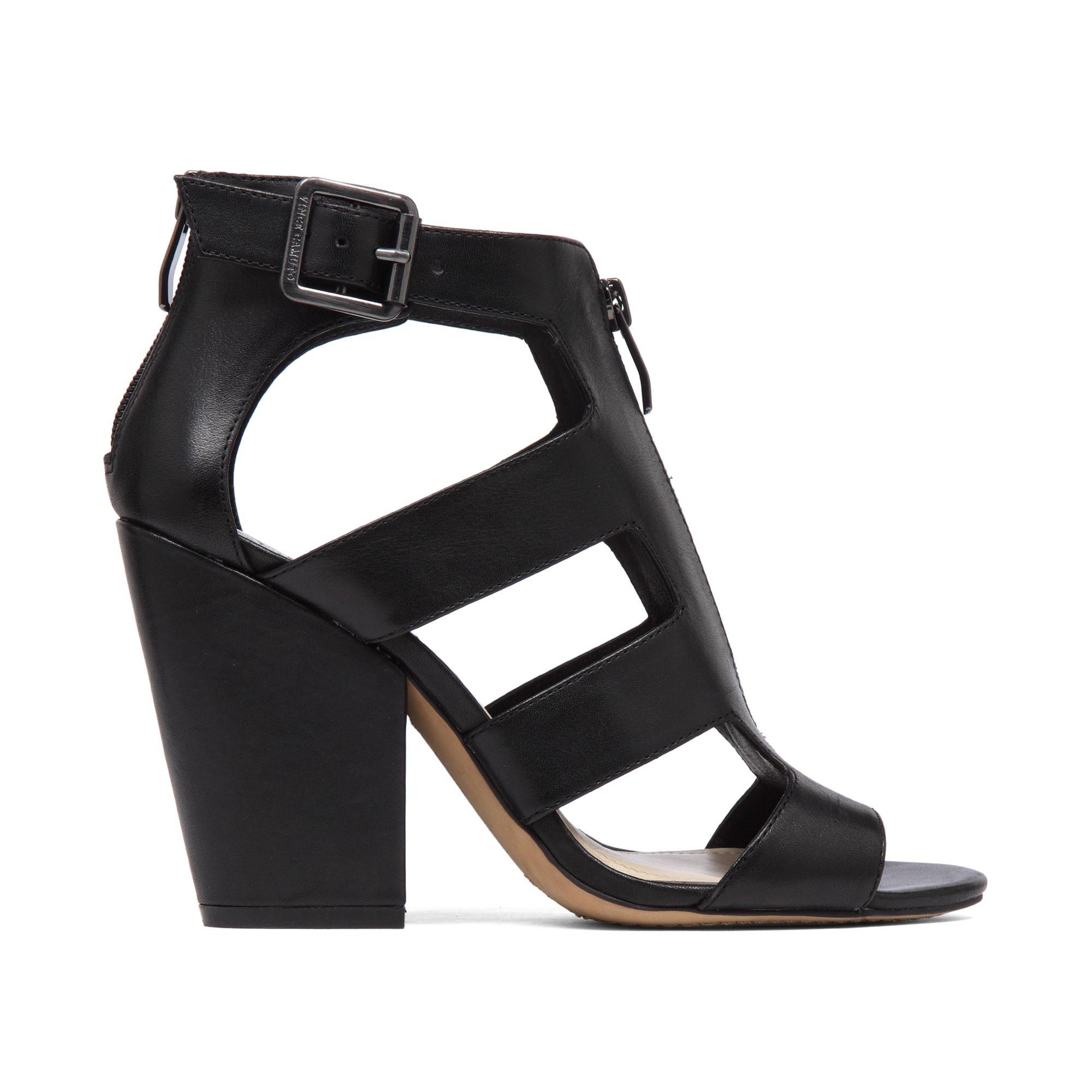Vince Camuto Marleau Block Heel Sandals In Black Lyst