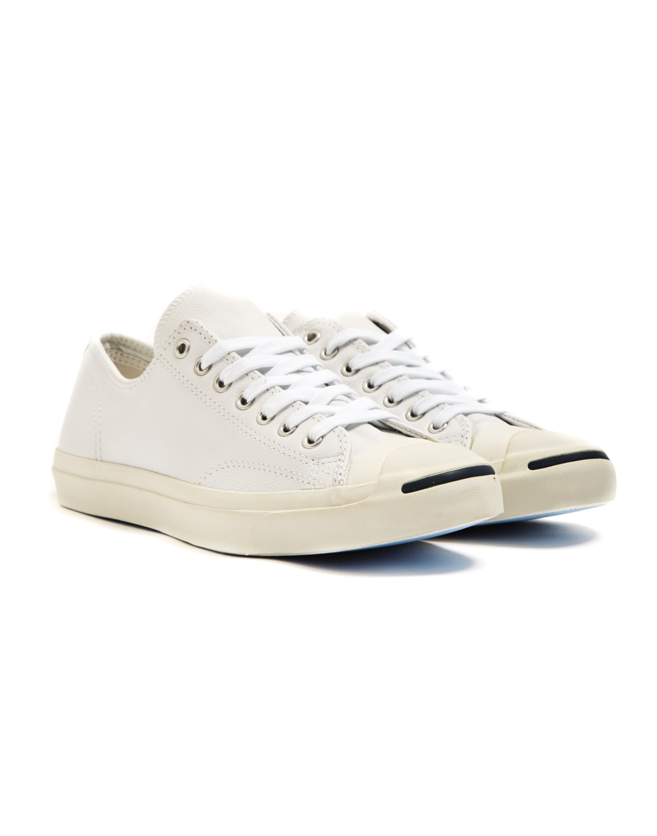 8ef0757175c6 Lyst - Converse Jack Purcell Jack Leather Trainer White navy in ...