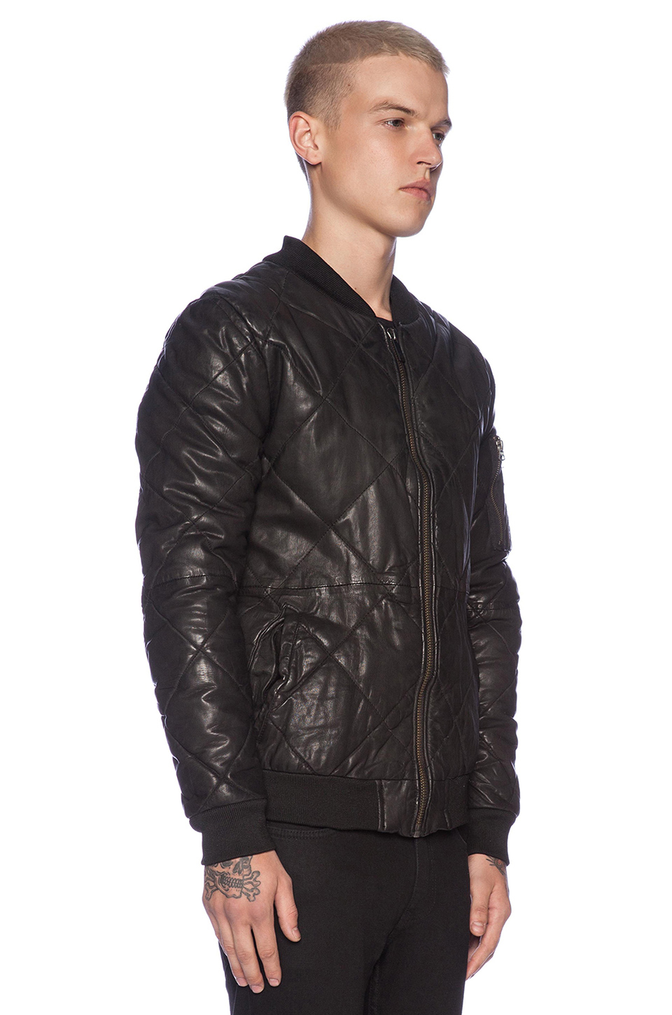 Scotch & soda Quilted Leather Bomber Jacket in Black for Men | Lyst : scotch and soda quilted leather jacket - Adamdwight.com