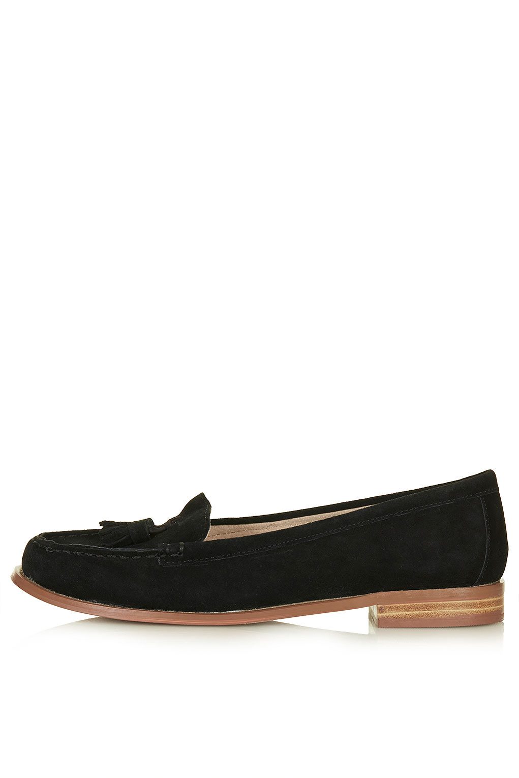 Lyst Topshop Womens Monument Tassel Loafers Black In Black