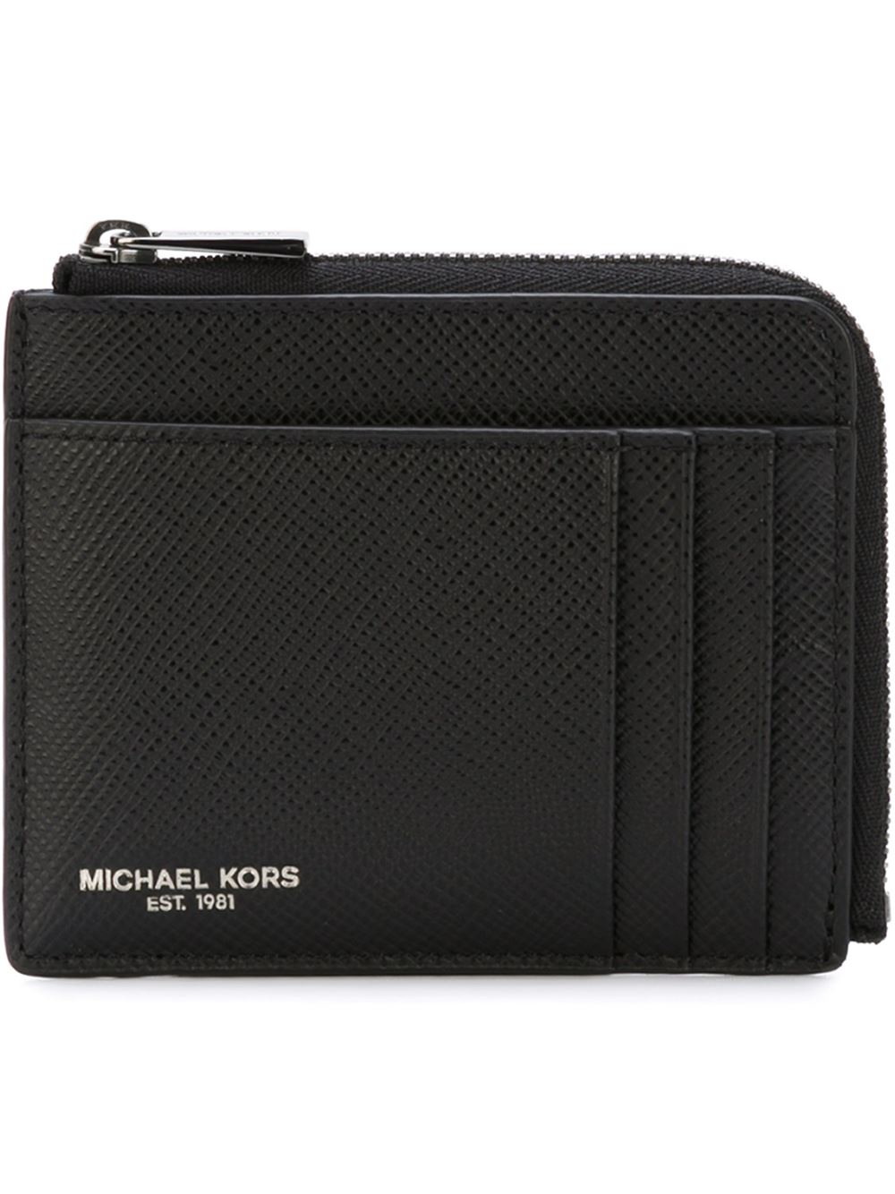 michael kors zip around wallet in black for men lyst. Black Bedroom Furniture Sets. Home Design Ideas