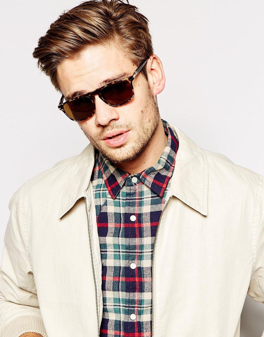 7dafcaac964 Lyst persol wayfarer keyhole polarised sunglasses in brown for men jpg  870x1110 Persol men