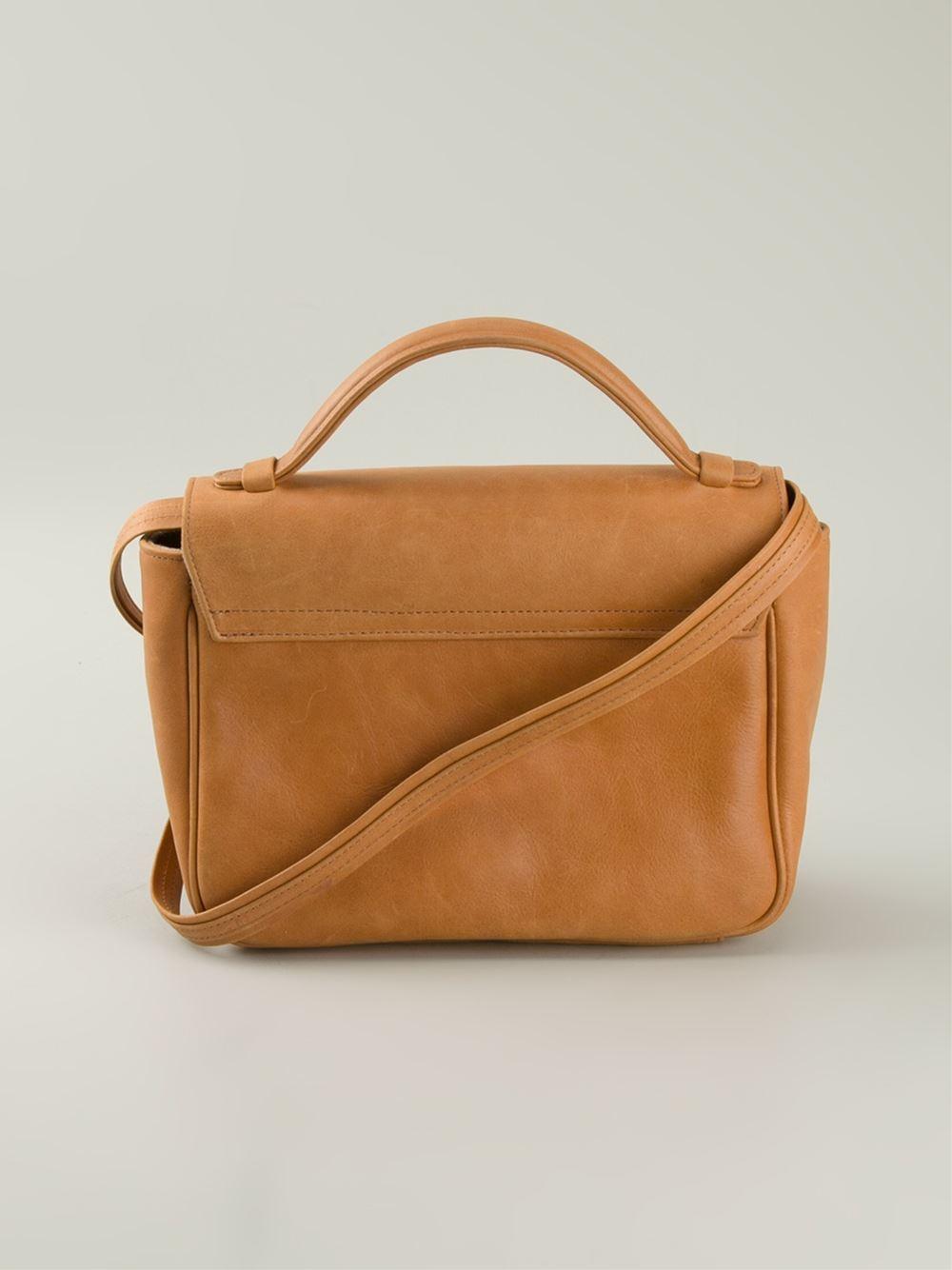 Sarah's bag Beaded Flap Cross-Body Bag in Natural