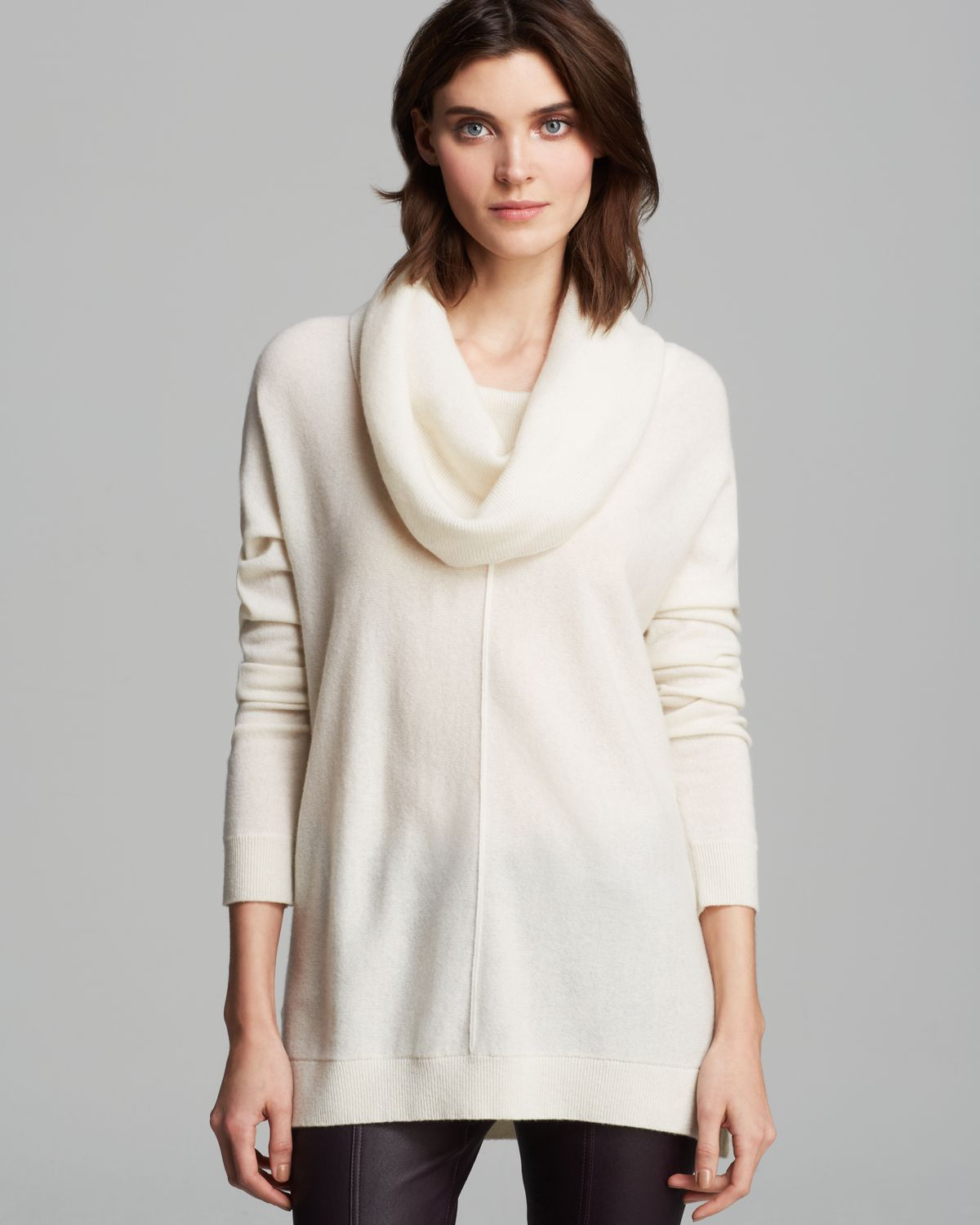 White Cashmere Cowl Neck Sweater Her Sweater