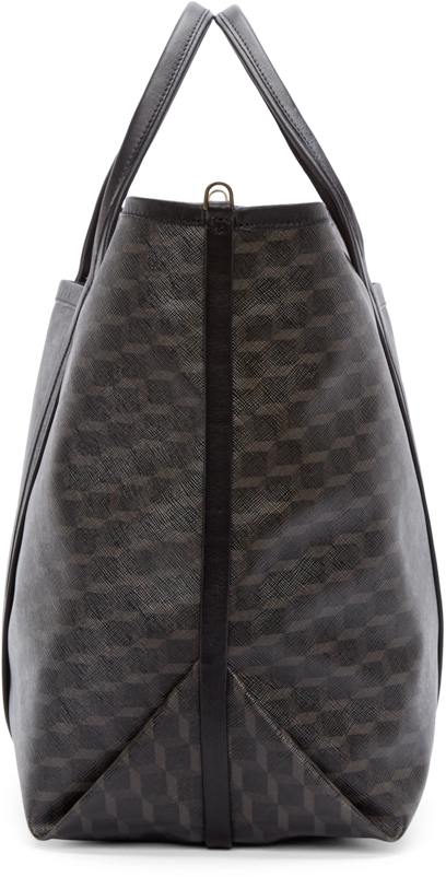 Pierre Hardy Grey Cube Perspective Tote Bag in Black