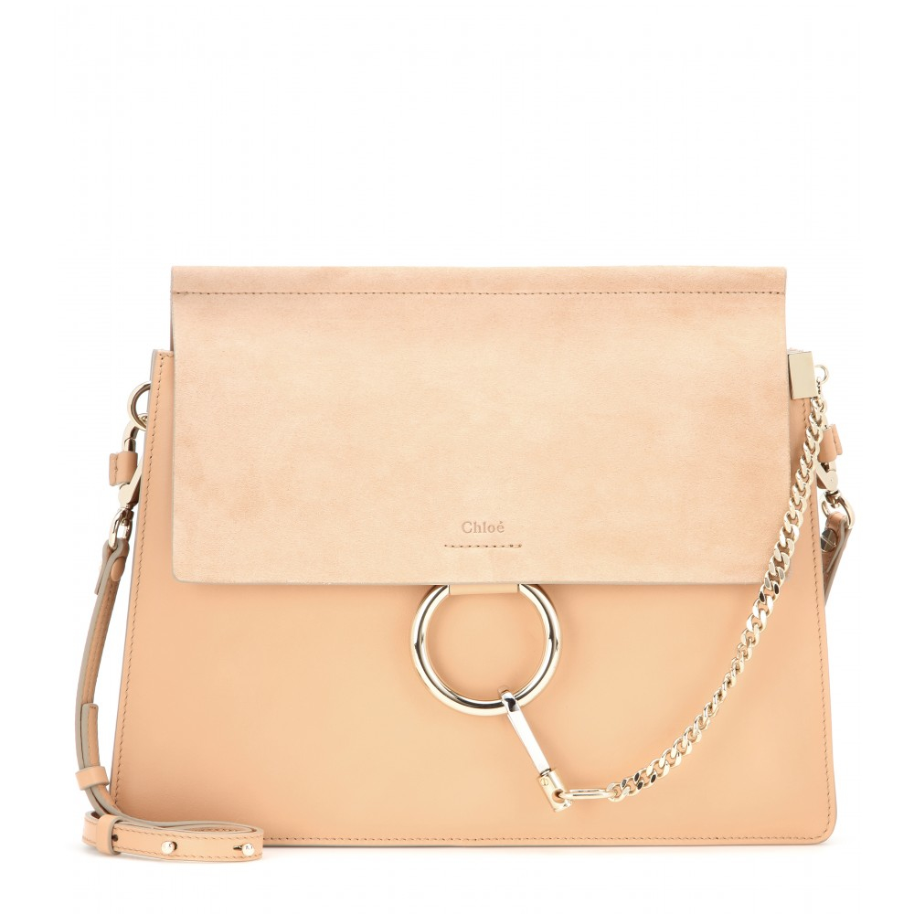 93a47fddfb Chloé Orange Faye Leather & Suede Shoulder Bag