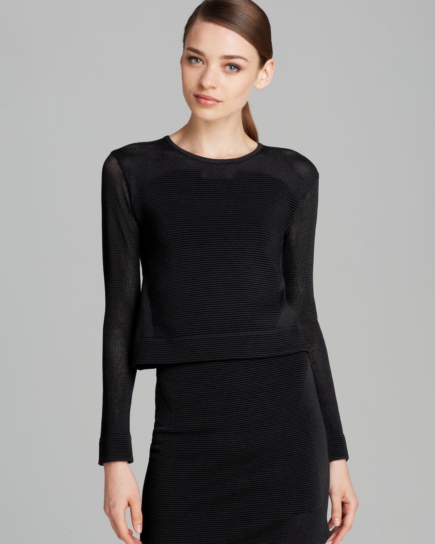 Zen Knitting Parker : Lyst parker top stratton knit in black