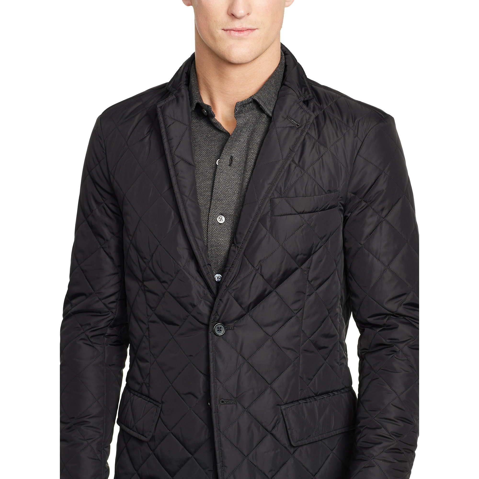 Lyst Polo Ralph Lauren Quilted Sport Coat In Black For Men
