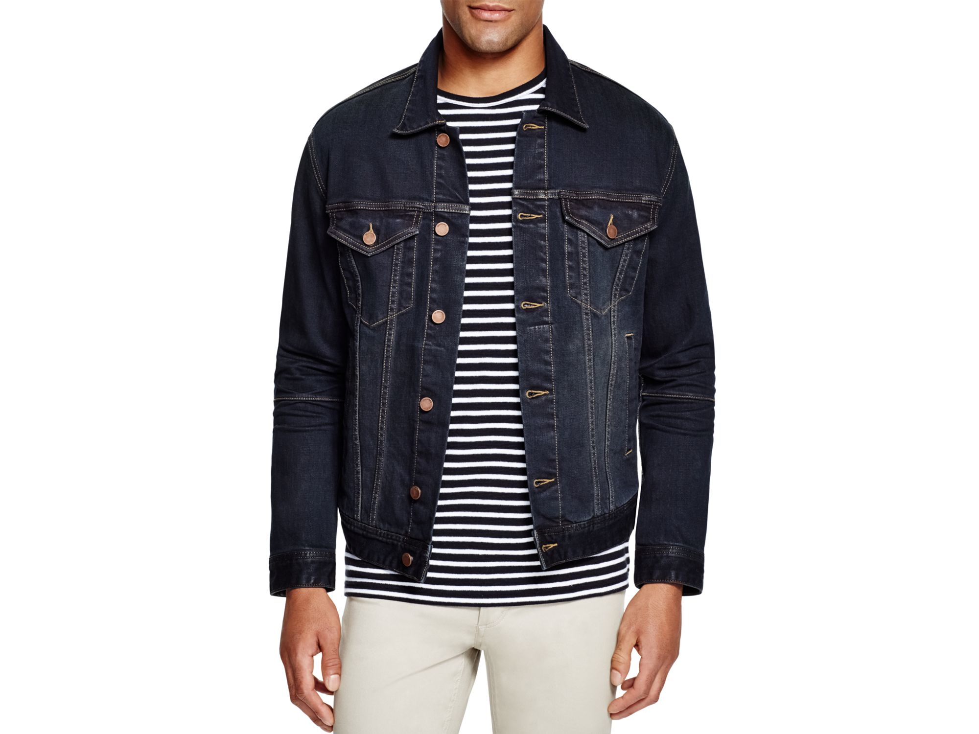 Blank Vintage Slim Fit Jean Jacket in Blue for Men | Lyst