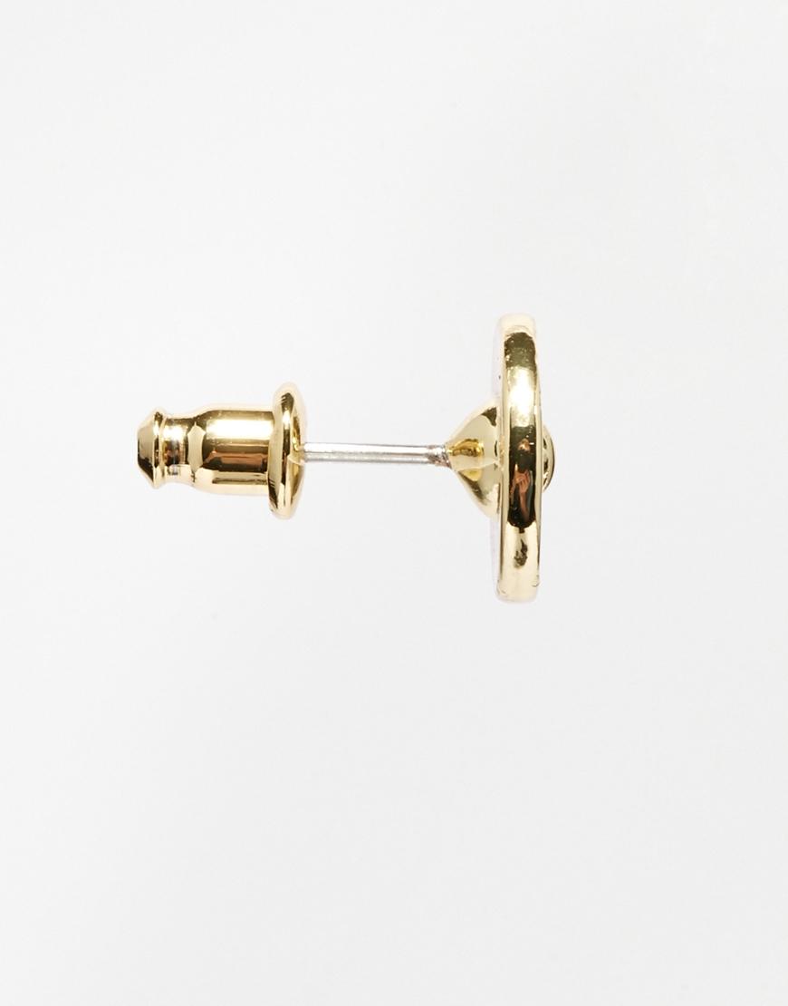 281ea21b9 Ted Baker Silver Glitter Tempany Stud Earring in Metallic - Lyst