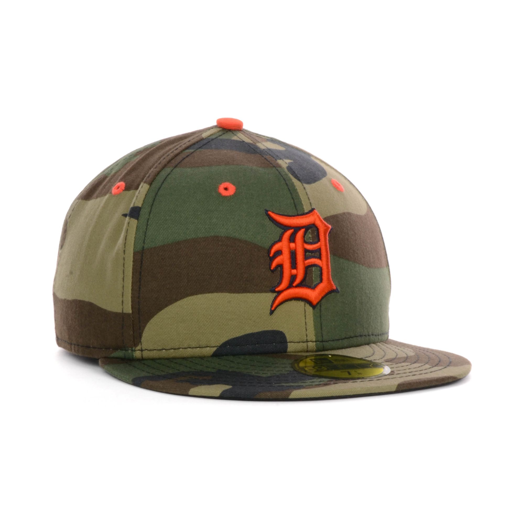 new era detroit tigers mlb camo pop 59fifty cap in green. Black Bedroom Furniture Sets. Home Design Ideas