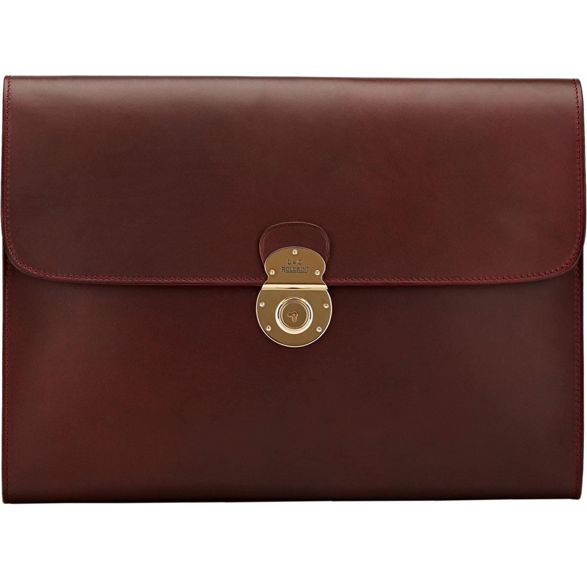 414e647bdeaa Lyst - Boldrini Selleria Gusseted Portfolio in Red for Men