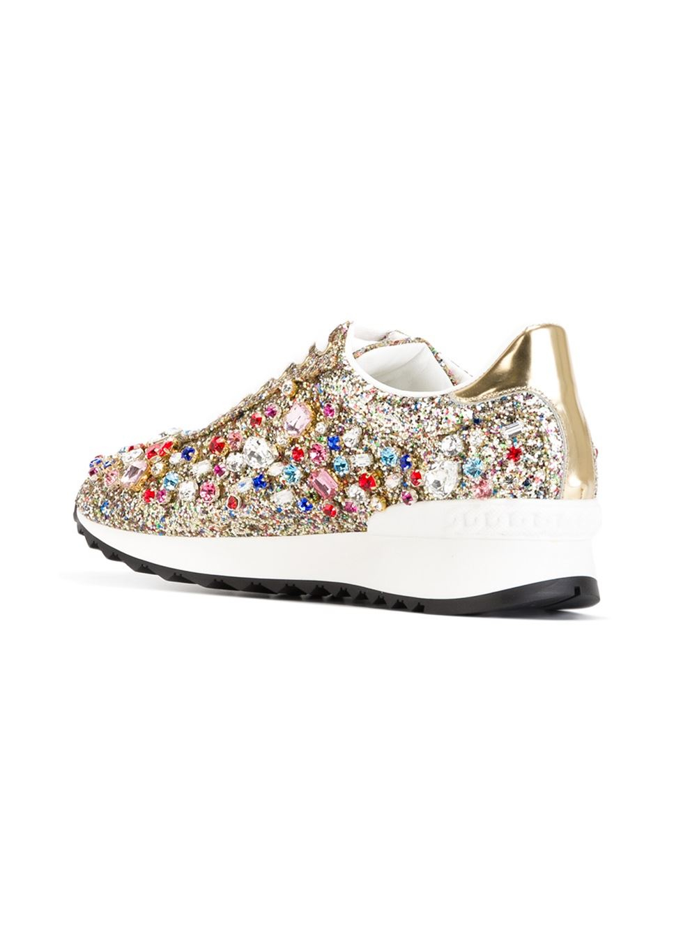 ribbon laced sneakers - Metallic Casadei YJqAwW3