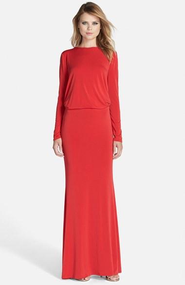 Long Sleeve Blouson Dresses