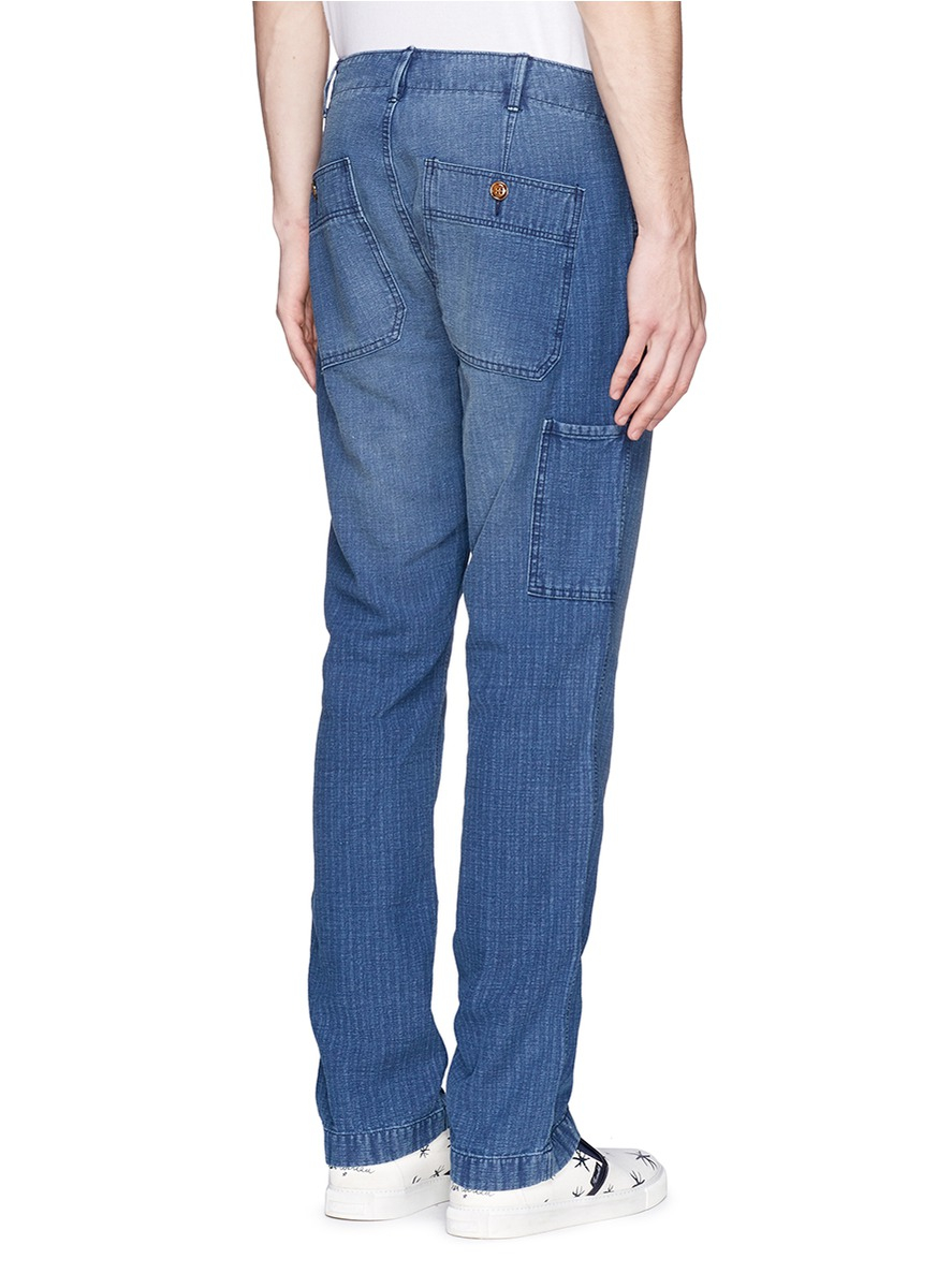 Alex mill Cotton-Linen Denim Dock Pants in Blue for Men | Lyst