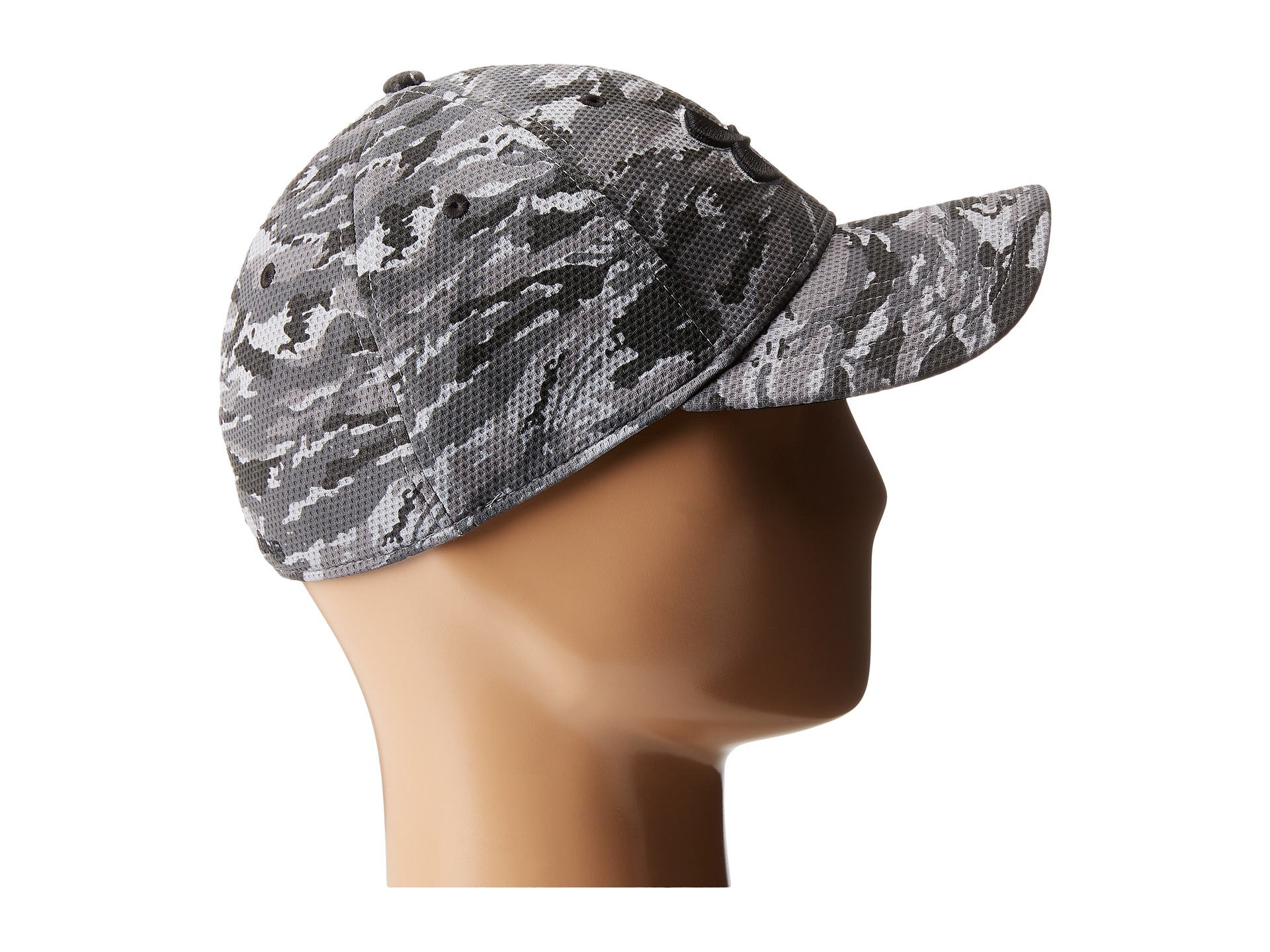 new styles cb994 521b0 coupon lyst under armour ua print blitzing stretch fit cap in black for men  7d70b 8b2d2