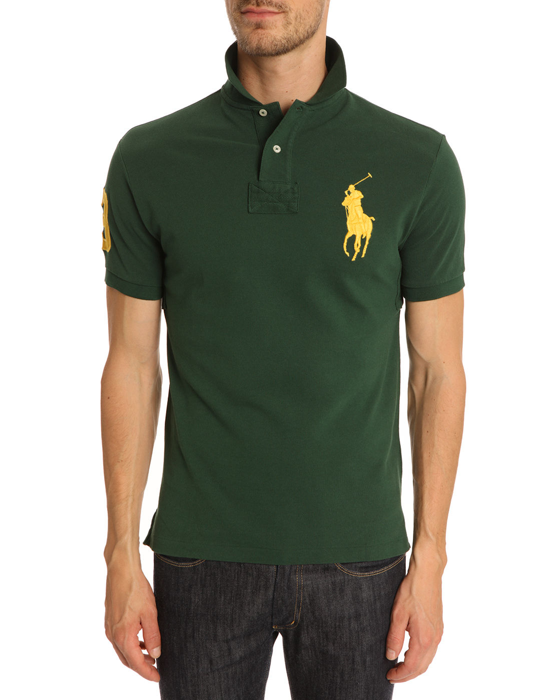Buy Polo Ralph Lauren Men\u0026#39;s Big Pony Green and Gold Polo Shirt, starting at $85. Similar products also available. SALE now on!