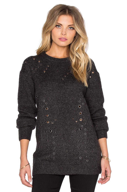 Line Xander Grommet Sweater In Gray Lyst