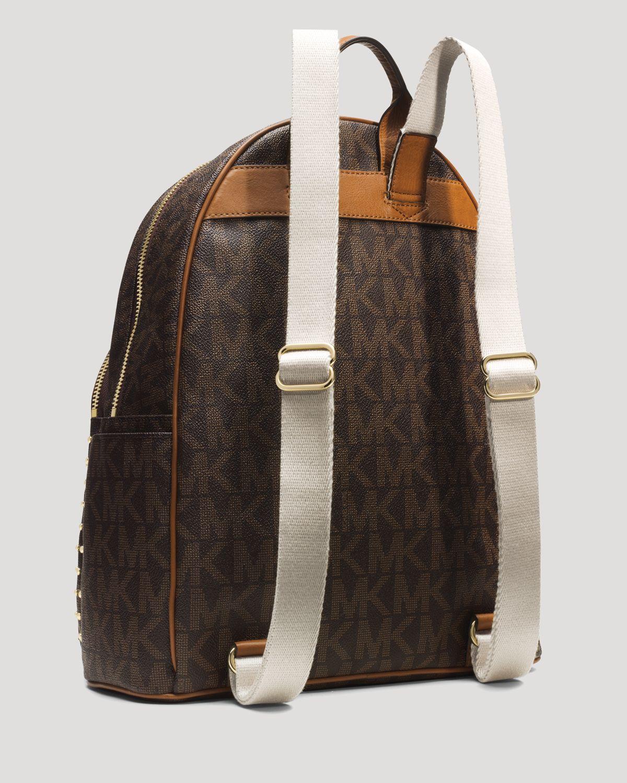 michael michael kors backpack jet set item large studded in white lyst. Black Bedroom Furniture Sets. Home Design Ideas