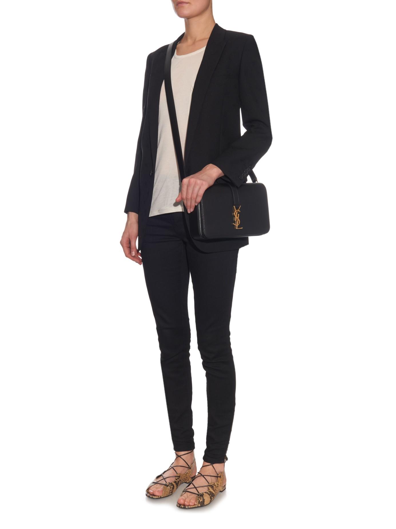 5e404114f4 Lyst - Saint Laurent Université Monogram Leather Cross-body Bag in ...