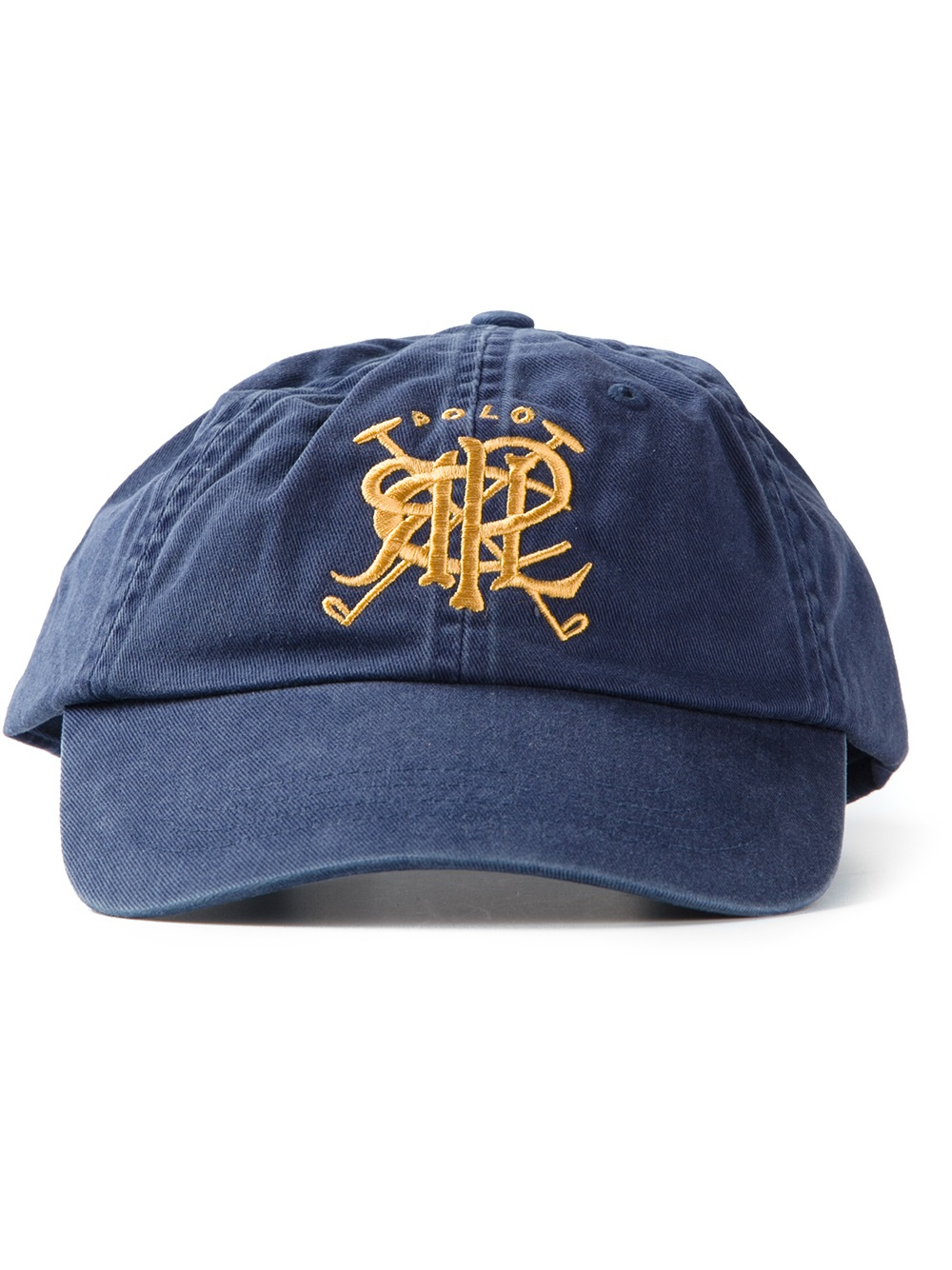 lyst polo ralph lauren crest embroidered baseball cap in. Black Bedroom Furniture Sets. Home Design Ideas